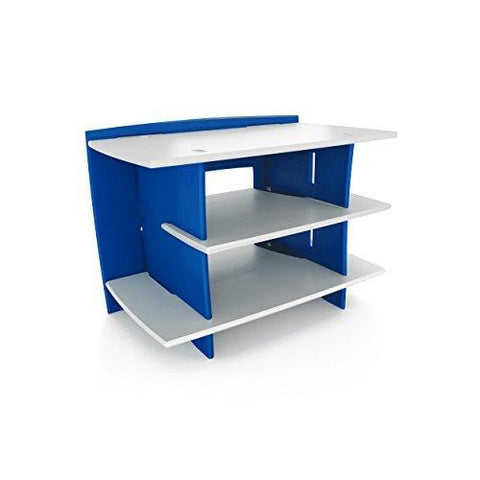 Legarã© Kids Furniture Race Car Series Collection, No Tools Assembly Gaming Center Stand, Blue And White