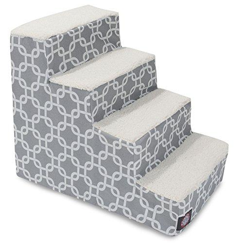 4 Step Portable Pet Stairs By Majestic Pet Products Gray Links Steps For Cats And Dogs