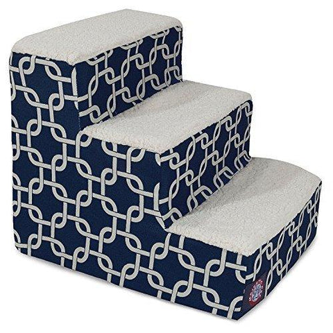 3 Step Portable Pet Stairs By Majestic Pet Products Navy Blue Links Steps For Cats And Dogs