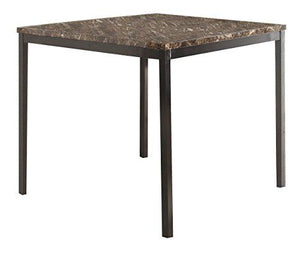 Homelegance 2601-36 Faux Marble Top Table, Black