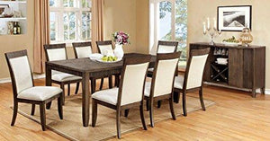 Furniture of America Stila Transitional Dining Table, Gray