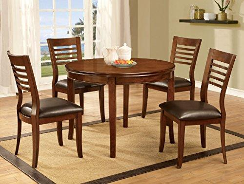 Furniture Of America Dekina Transitional Round Dining Table, Medium Oak
