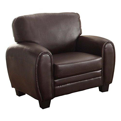 Homelegance 9734DB-1 Upholstered Chair, Dark Brown Bonded Leather Match