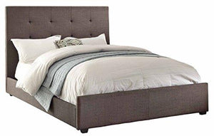 Homelegance 1890N-1 Queen Size Upholstered Bed, Grey Fabric