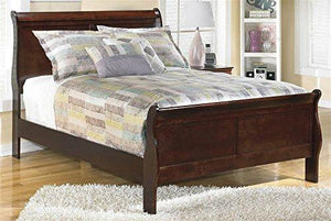Full Sleigh Bed In Dark Brown Finish