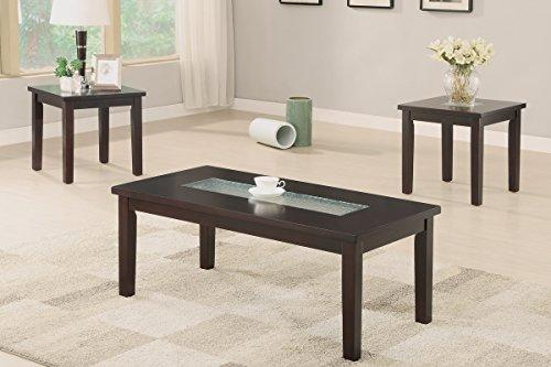 3-Pcs Accent Table Set With Asymmetrical Center