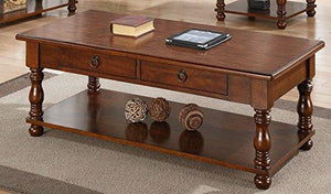 Coffee Table In Brown Wood Finish By Poundex