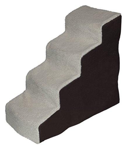 Pet Gear Easy Step Iv Deluxe Soft Step Pet Stairs For Pets Up To 150 Lb., Oatmeal/Chocolate