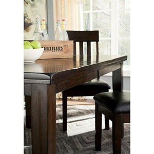 Ashley Haddigan Rectangular Butterfly Dining Table In Dark Brown