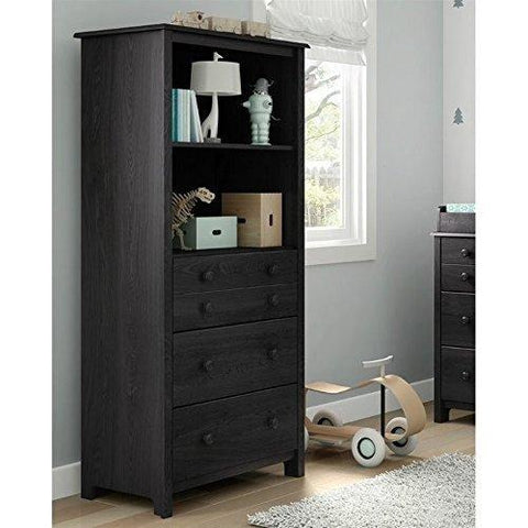 South Shore Little Smileys Shelving Unit With Drawers, Gray Oak