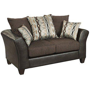 Flash Furniture Riverstone Rip Sable Chenille Loveseat, Brown