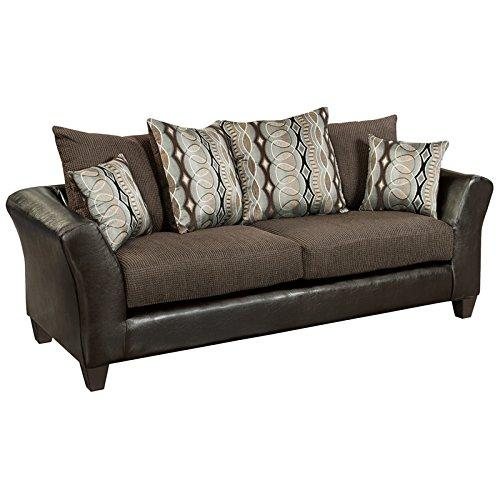 Flash Furniture Riverstone Rip Sable Chenille Sofa, Brown