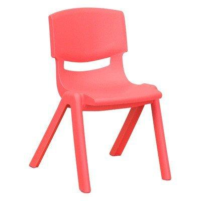 Plastic Classroom Chair [Set of 2] Seat Color: Red, Seat Height: 13.5