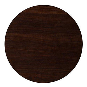 Flash Furniture TP-WAL-36RD-GG Round Resin Walnut Table Top, 36