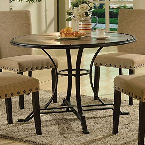 ACME Furniture 71930 Byton Dining Table, Antique Light Oak & Black
