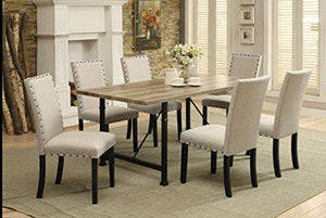 Acme Furniture 71925 Oldlake Dining Table, Antique Light Oak & Black