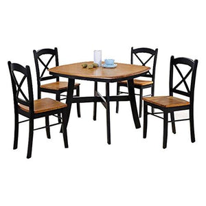 Milton Greens Stars Murcia 42 X 42 2-Tone Natural And Black Square Dining Table