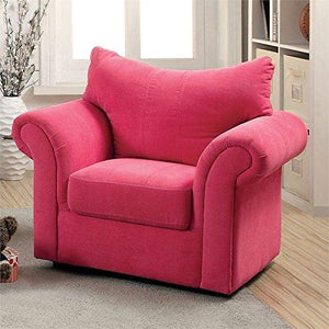 Furniture of America Grenna Upholstered Chair in Pink