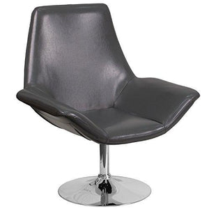 Flash Furniture Hercules Sabrina Series Gray Leather Side Reception Chair