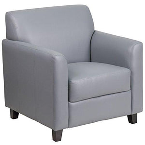 Flash Furniture Hercules Diplomat Series Gray Leather Chair