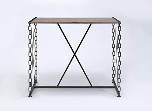 Acme Furniture 71990 Jodie Bar Table, Rustic Oak & Antique Black