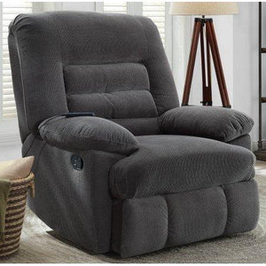 Serta Big & Tall Memory Foam Massage Recliner, Grey