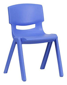 Flash Furniture 10 Pk. Blue Plastic Stackable School Chair with 13.25'' Seat Height