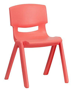 Flash Furniture 10 Pk. Red Plastic Stackable School Chair with 13.25'' Seat Height