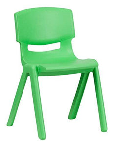 Flash Furniture 10 Pk. green Plastic Stackable School Chair with 13.25'' Seat Height