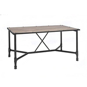 Acme Furniture 72035 Caitlin Dining Table, Rustic Oak & Black