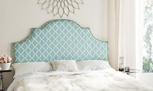 Safavieh Mercer Collection Hallmar Arched King Sized Headboard, Blue/White