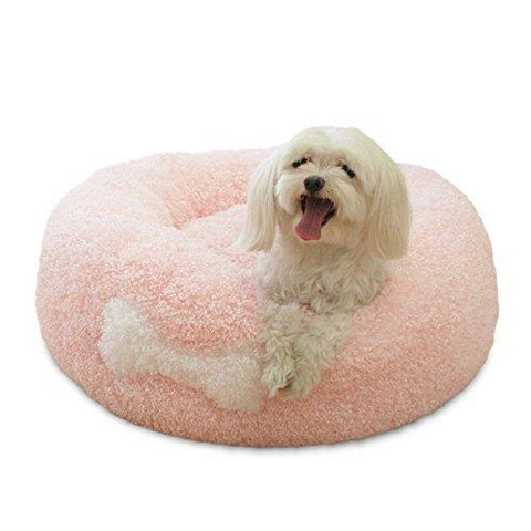 Creation Core Fluffy Super Soft Pink Pet Dog Puppy Cat Bed Nest(M)