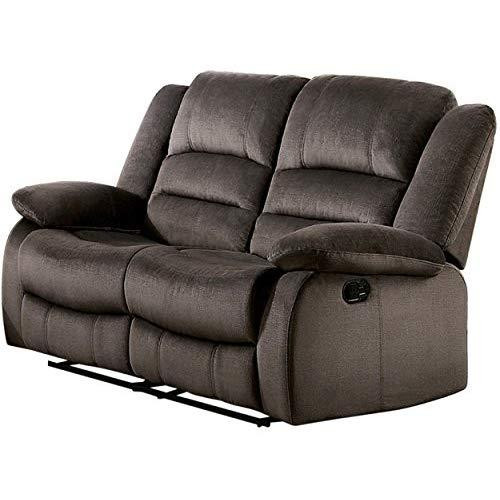 Homelegance Jarita Reclining Loveseat Polyester Fabric Cover, Chocolate