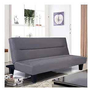 Microfiber Futon Folding Couch Sofa Bed 6' Mattress Sleep Recliner Lounger Gray