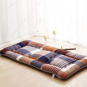 Hxxxy Mat For Dorm,Washable Rolls Up Tatami Mats [Japanese-Style] Bedding Polyester-G 100X200Cm(39X79Inch)