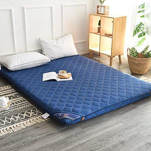 Hxxxy Tatami Floor Mat,Floor Mat Futon Mattress Topper Traditional Japanese Futon Queen Size Single Size Dorm-Blue 150X200Cm(59X79Inch)