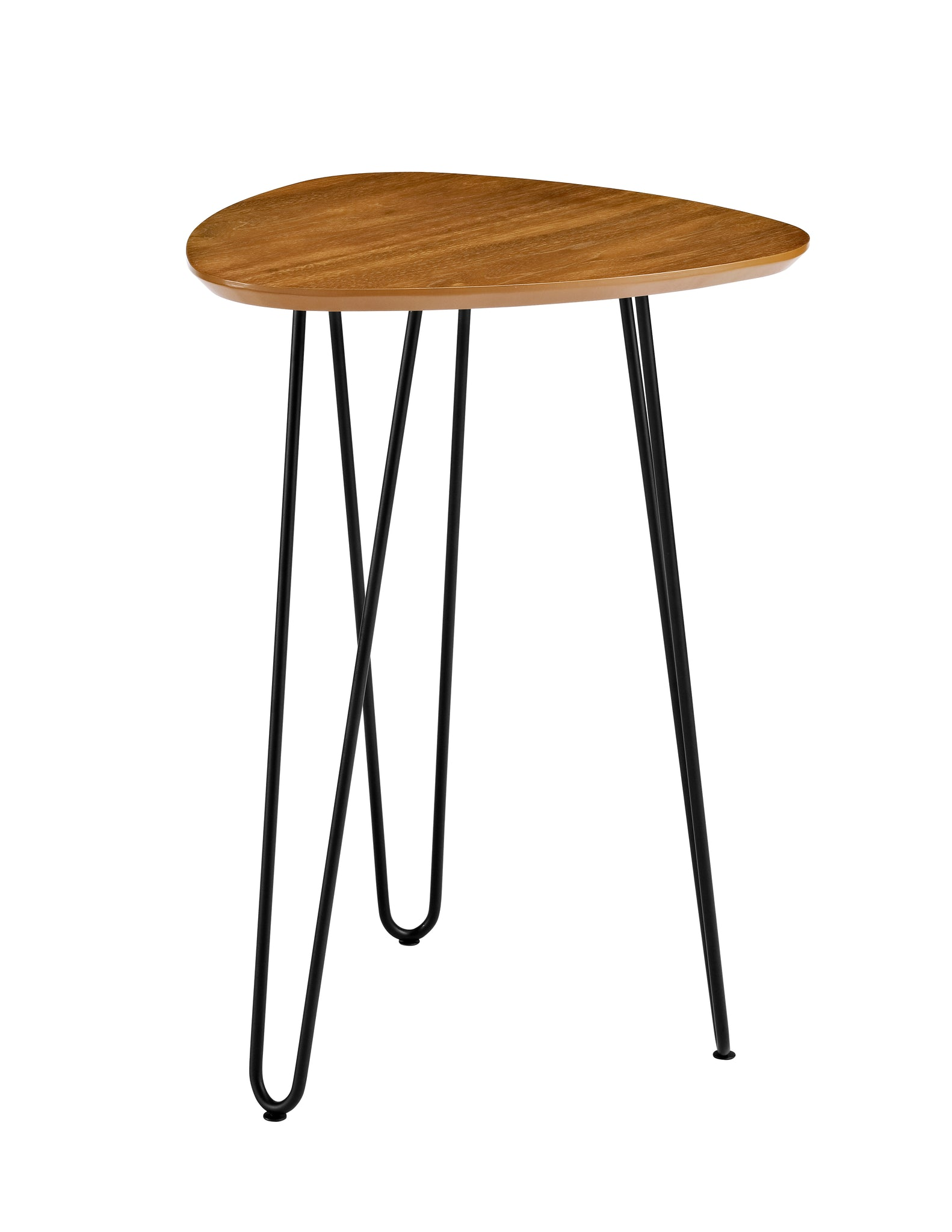 "18"" Hairpin Leg Wood Side Table - Walnut"