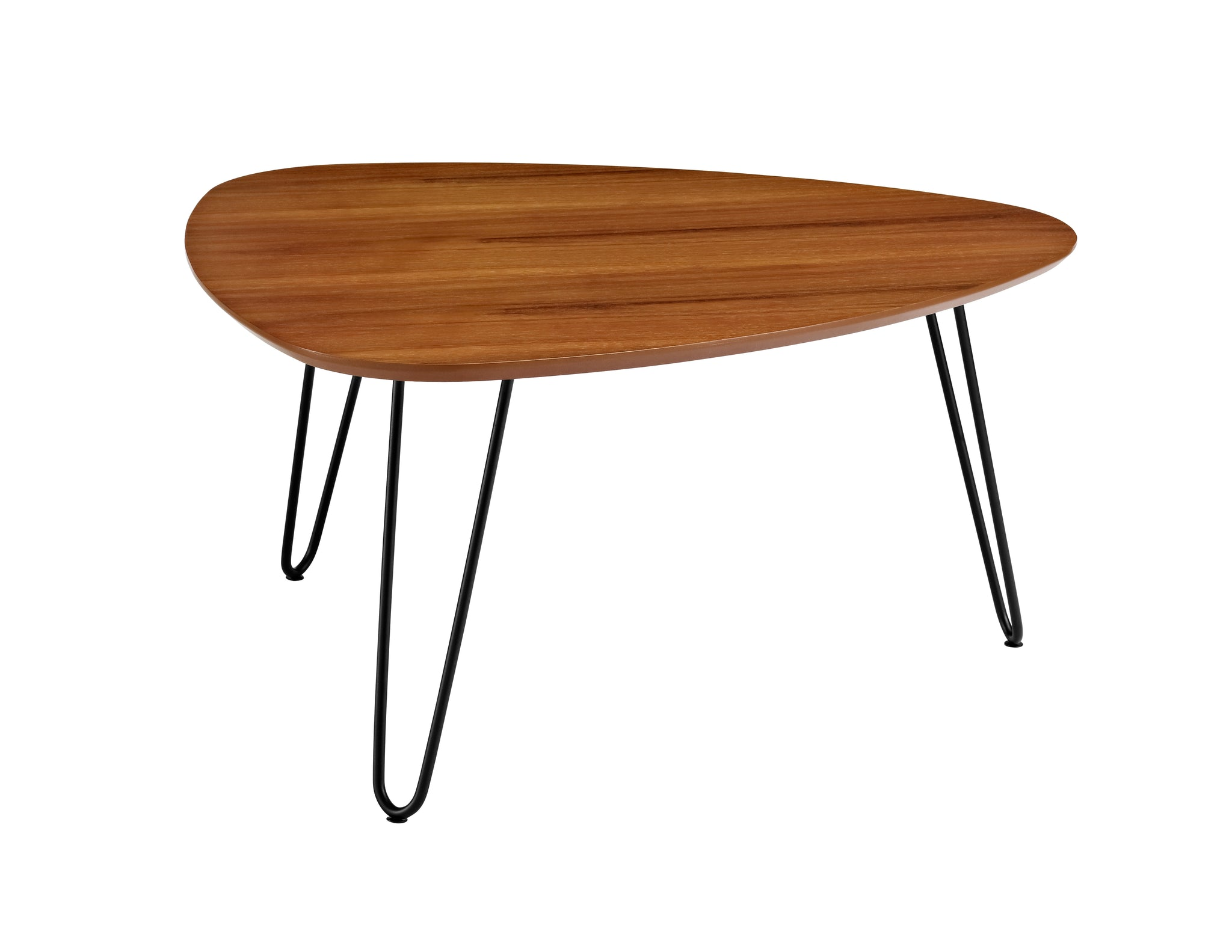 "32"" Hairpin Leg Wood Coffee Table - Walnut"