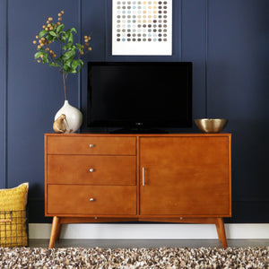 52 Inches Mid-Century TV Console - Acorn