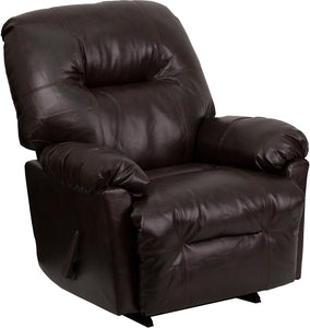 Contemporary Bentley Brown Leather Chaise Rocker Recliner - AM-C9350-9075-GG