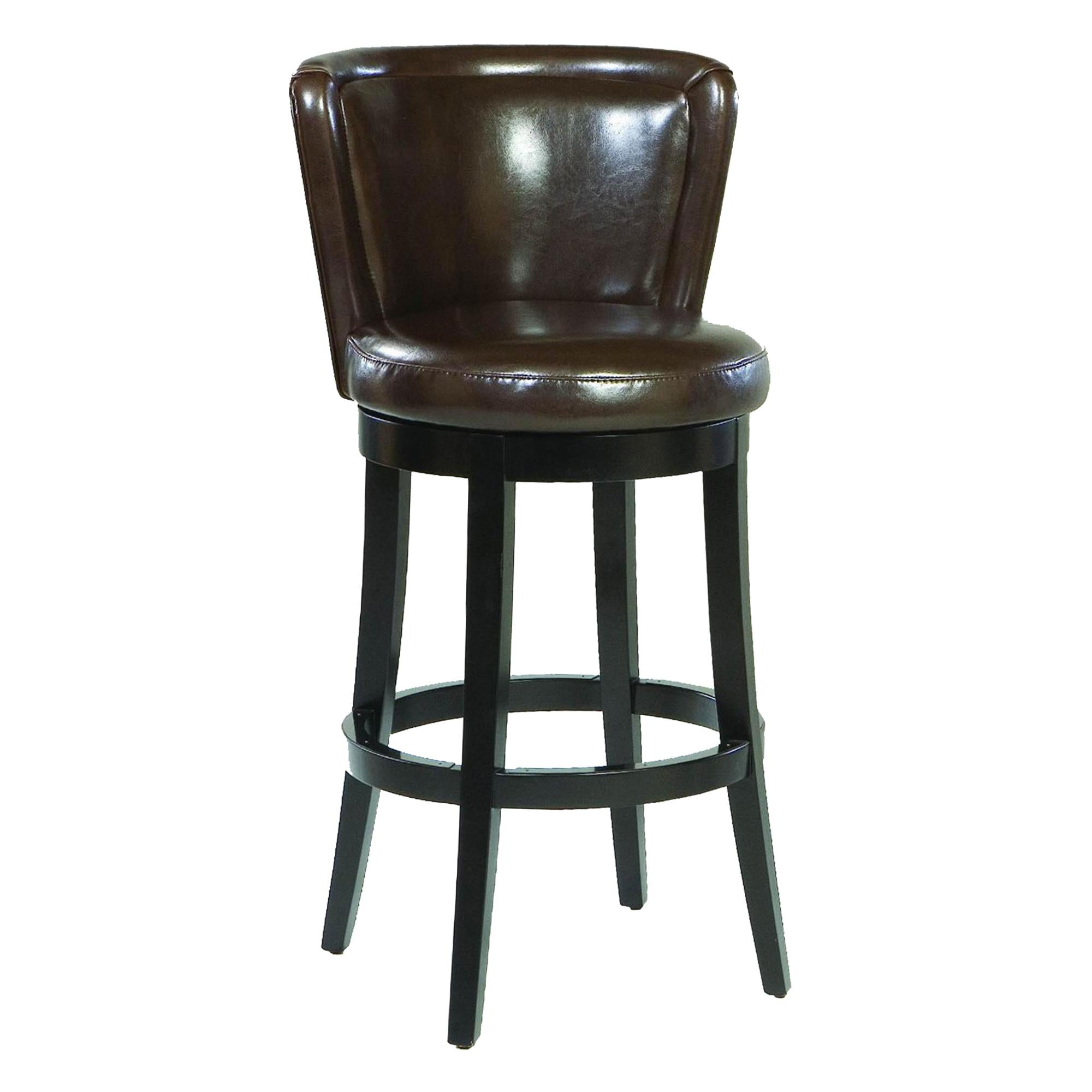 Lisbon 26' Swivel Barstool/ Brown Leather Mbs-11