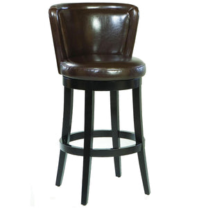 Lisbon 30' Swivel Barstool/ Brown Leather Mbs-11