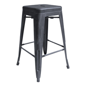 Zed Industrial 26' Counter Height Backless Barstool in Industrial Grey