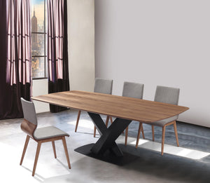 Everett Mid-Century Walnut Wood 5 Piece Dining Set
