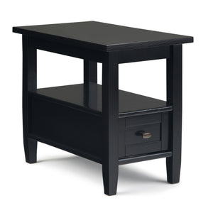 Warm Shaker Narrow Side Table in Black