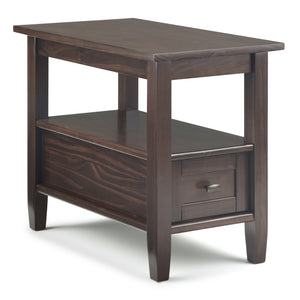 Warm Shaker Narrow Side Table in Tobacco Brown