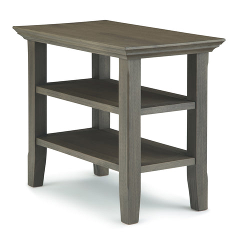 Acadian Narrow Side Table in Farmhouse Grey