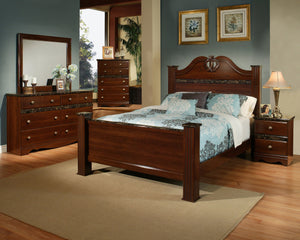 B437-22 Traditional Cherry Wood Night Stand
