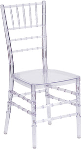 Flash Elegance Crystal Ice Stacking Chiavari Chair - BH-ICE-CRYSTAL-GG