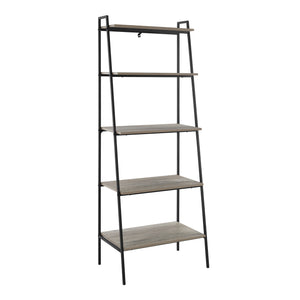 "72"" Metal & Wood Ladder Shelf - Grey Wash"